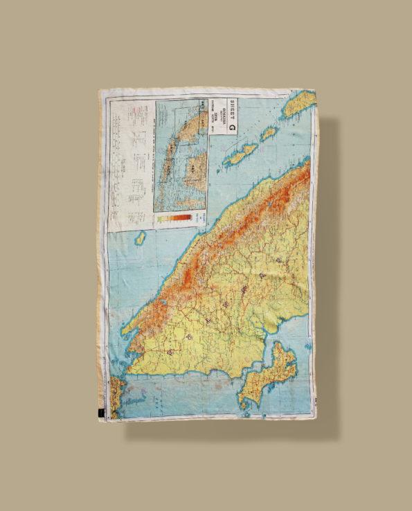 Bonhomme : Foulard d'Evasion WW2 Borneo