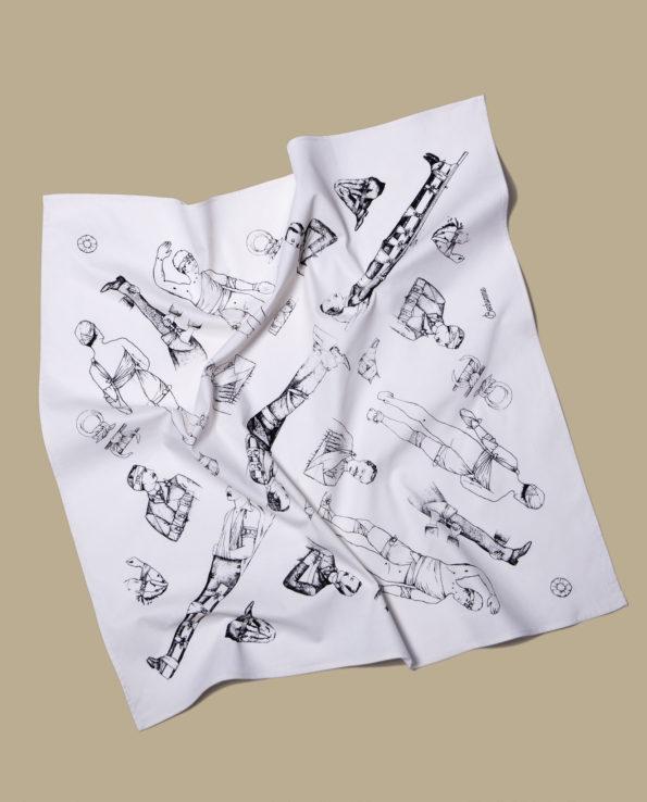 BONHOMME : 1900 white bandana