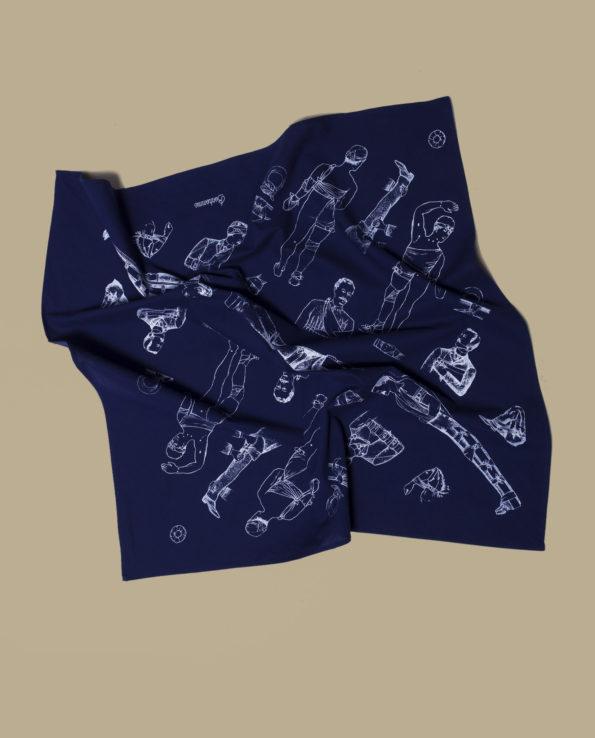 Bonhomme - bandana bleu vole