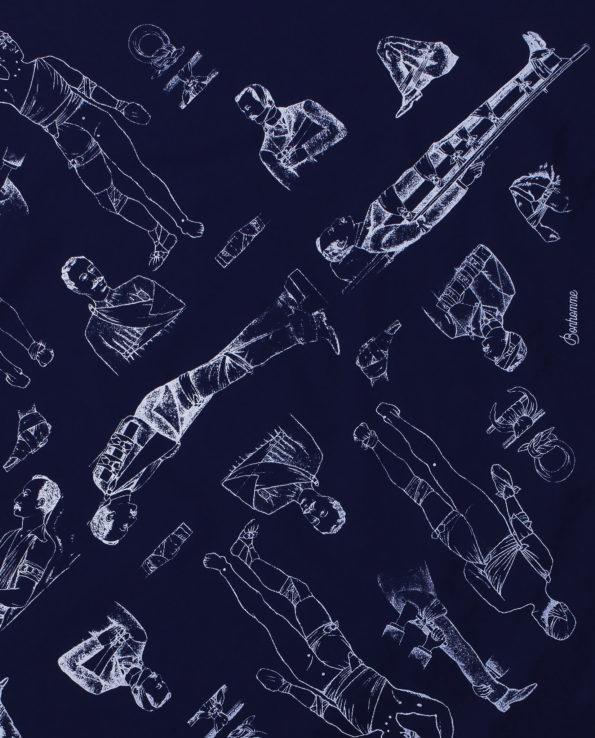 Bonhomme - bandana bleu détail