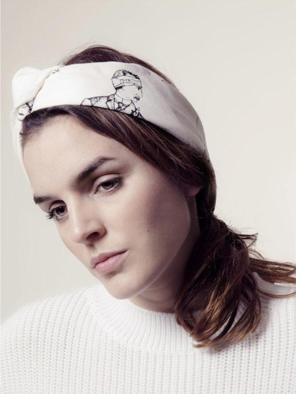 Bonhomme - bandana blanc bandeau