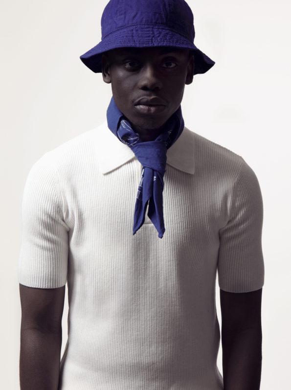 Bonhomme - bandana bleu noué