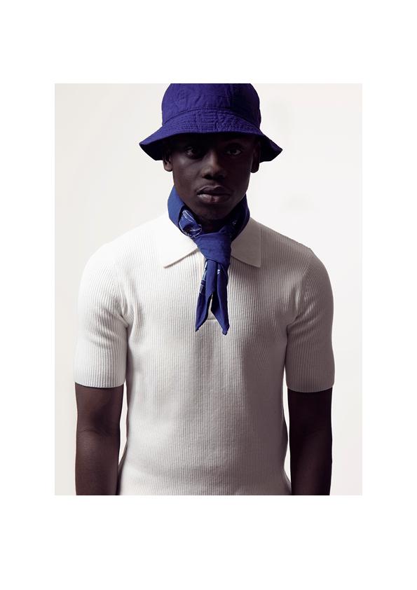 Bonhomme - bandana bleu