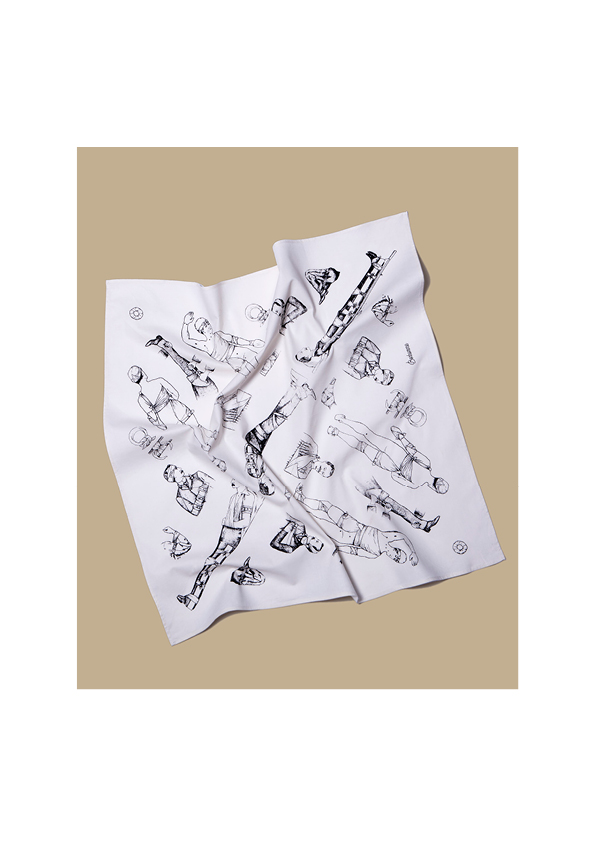 Bonhomme - bandana blanc